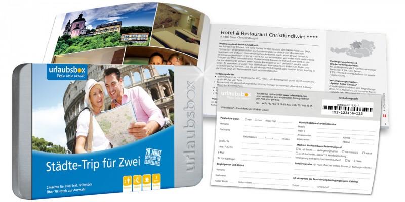 """Urlaubsbox - Kurzurlaub """"Städte-Trip"""" für 2 Personen - Reisegutschein"""