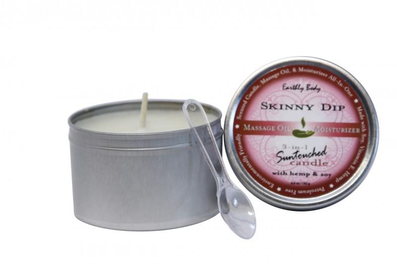 Duftkerze die in warmes Massage-Öl übergeht - Vanille/Zuckerwatte