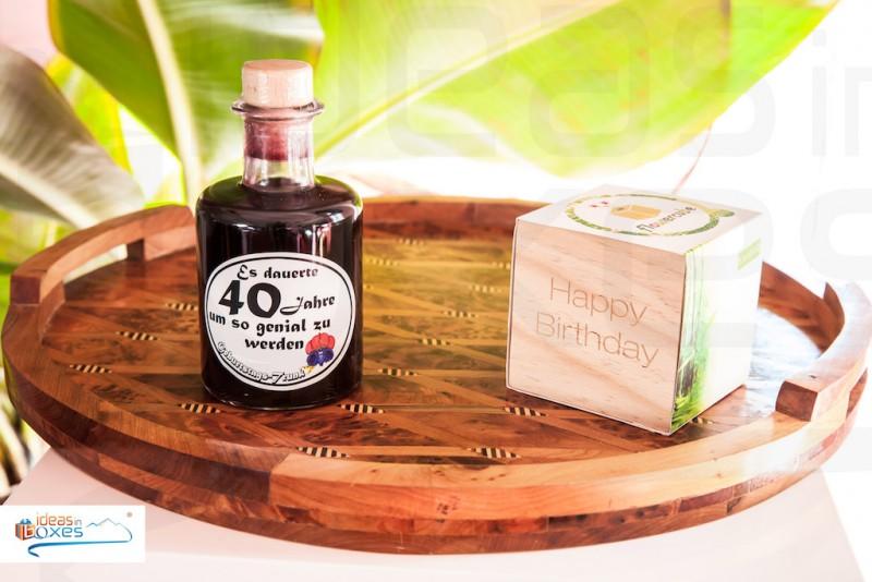 Apotheker Weinflasche zum 40 Geburtstag