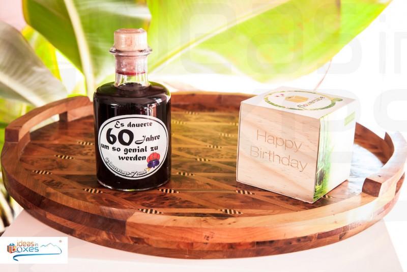 Apotheker Weinflasche zum 60 Geburtstag