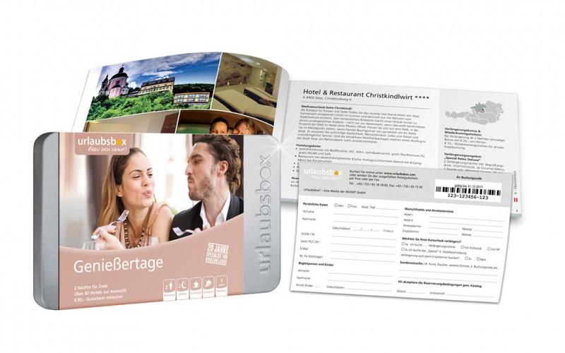 """Urlaubsbox - Kurzurlaub """"Genießertage"""" für 2 Personen - Reisegutschein"""