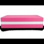 Premium+ Geschenkbox - Geschenkverpackung Made in Germany (Rosa, Weiß, Rosa) 33x8x22 cm