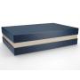 Premium+ Geschenkbox - Geschenkverpackung Made in Germany (Blau, Gold, Blau) 33x8x22 cm