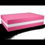 Premium Geschenkbox - Geschenkverpackung Made in Germany (Rosa, Weiß, Rosa) 33x8x22 cm
