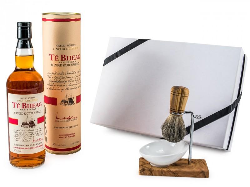 Geschenkset für Männer - Te Bheag Unchillfiltered Whisky + Bartset