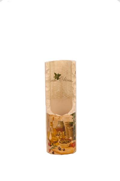 Steinsäule für Weinflaschen *Oliven*