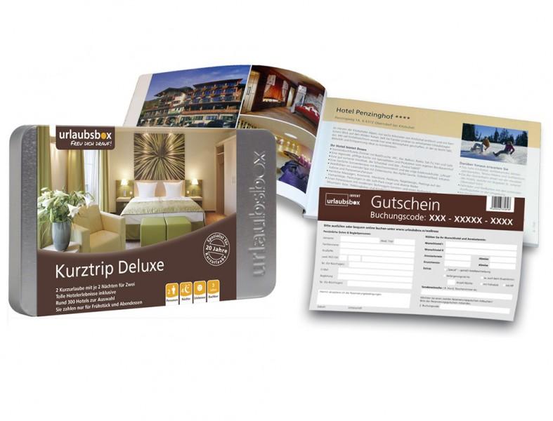 """Urlaubsbox - Kurzurlaub """"Kurztrip Deluxe"""" für 2 Personen - Reisegutschein"""
