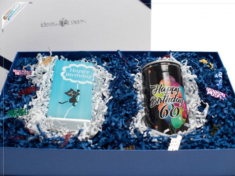 Geschenkset zum 60. Geburtstag (Secco + Motivkerze)