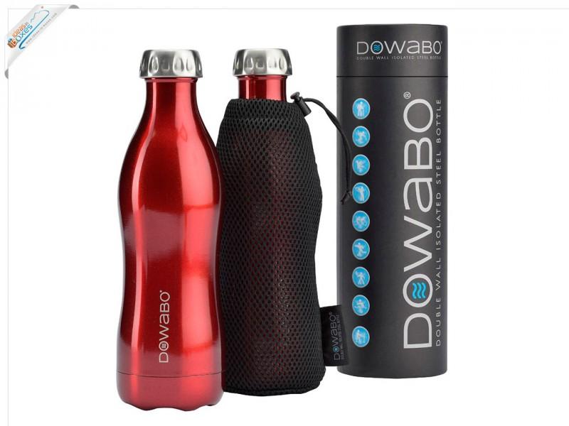 Dowabo Edelstahl Thermosflasche 0,75l mit Tasche - Funktionale Geschenkidee