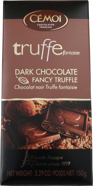 Cémoi Truffe Fantasie Zartbitterschokolade & Fancy Truffle 150g Tafel