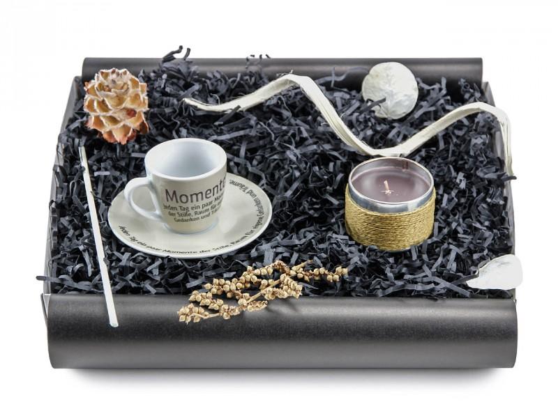 """Geschenkbox """"Momente der Stille"""" (Espresso Tasse"""