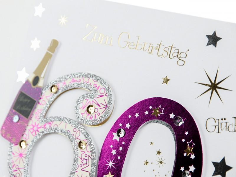 60´ Geburtstagskarte