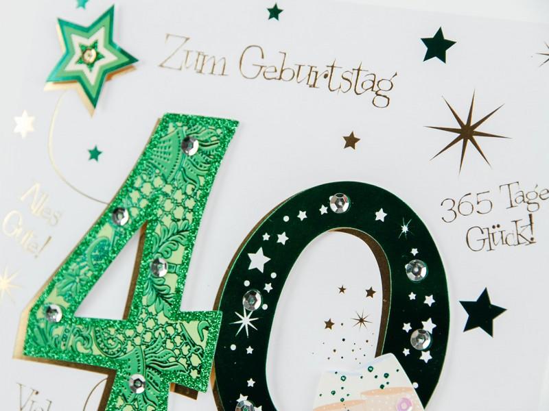 40´ Geburtstagskarte