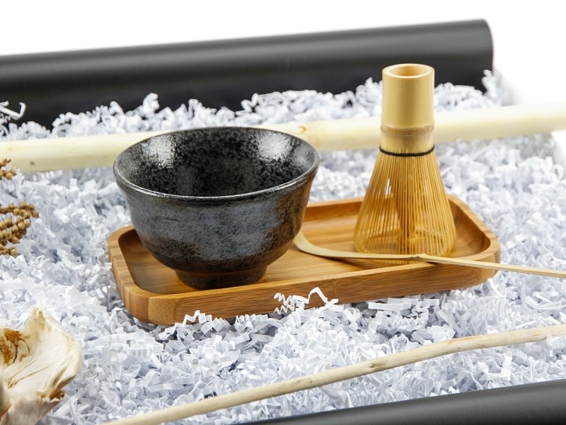 Asia Matcha Set mit Bambus Schale