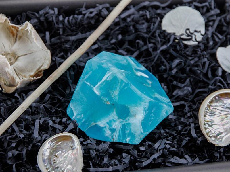 """Geschenkbox """"Blauer Achat"""" (SoapRocks"""