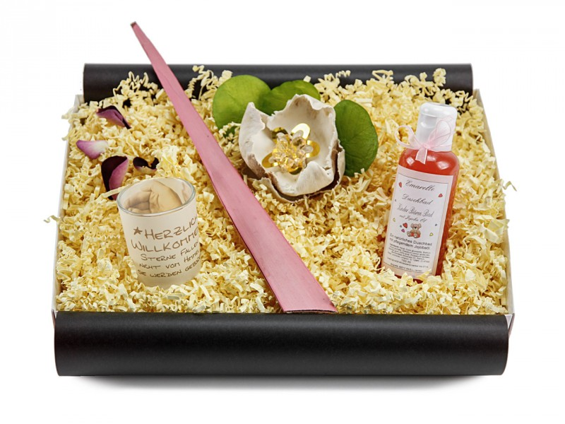 Babybox 180 (Duschbad Kinder Bären Bad 150 ml + Teelicht