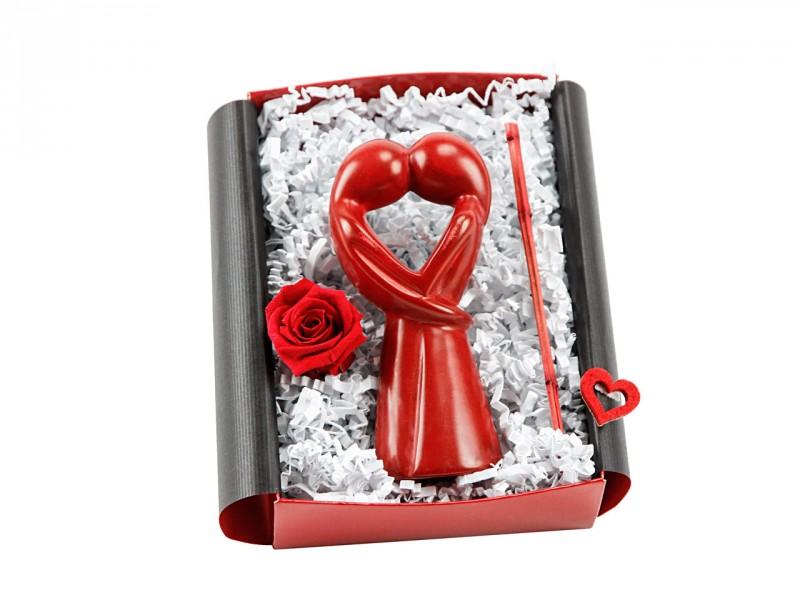 Geschenkbox Afrikanische Dekofigur - Liebesgeschenk - Romantisches Geschenk zum Valentinstag