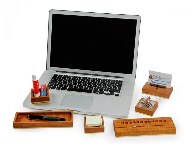 Tischabroller (Stilvoller Echtholz-Tesaroller)