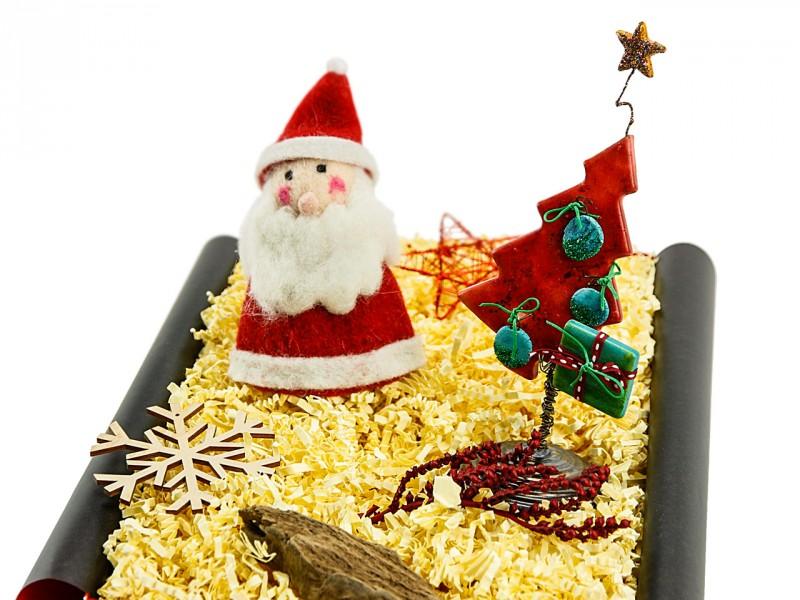 Weihnachtsbox 234 (Eierwärmer Nikolaus + Tannenbaum) Originelles Weihnachtsgeschenk