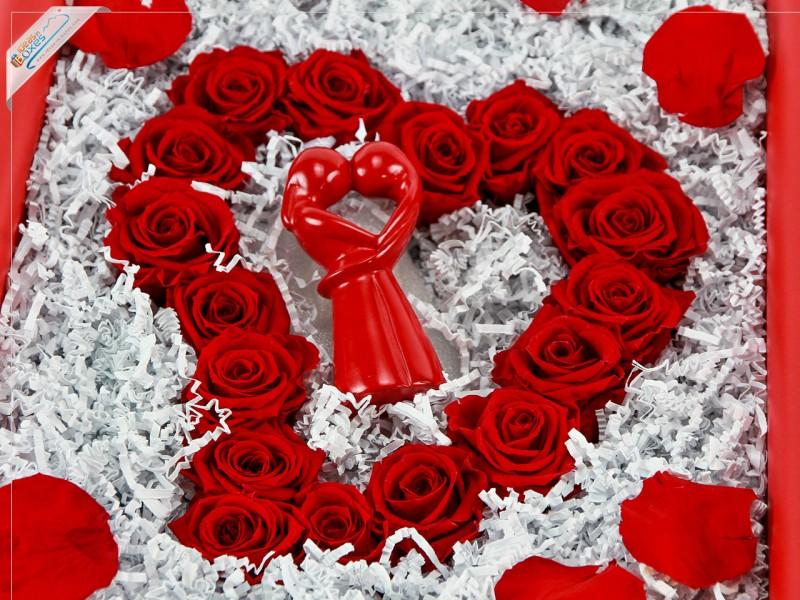 Romantisches Geschenkset zum Valentinstag mit Afrikanischer Dekofigur