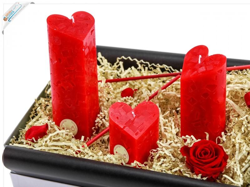 Valentinsgeschenkset   Herz Kerzen Für Liebende   Geschenkbox Zum  Valentinstag
