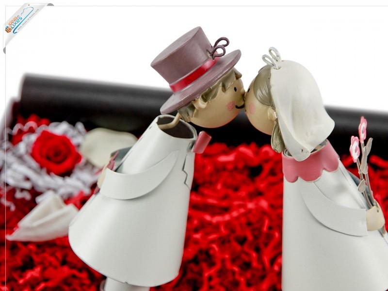 Knutschis Brautpaar mit Herz -Geschenkset für Verliebte