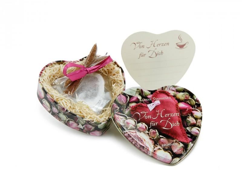 Herz-Teedose *Von Herzen für Dich* - Liebesgeschenk