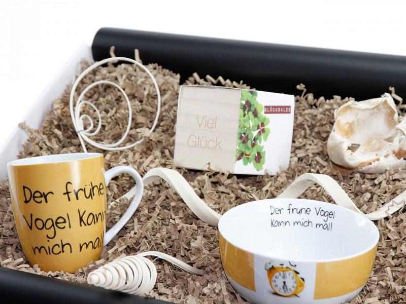 """Geschenkbox """"früher Vogel"""" (Schälchen"""