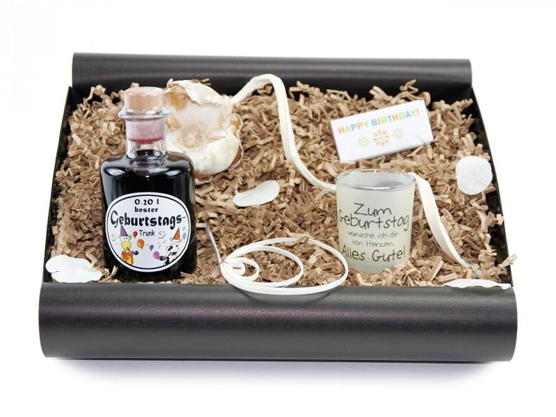 """Geschenkbox von Herzen """"Geburtstagstrunk"""" (Apotheker Weinflasche"""