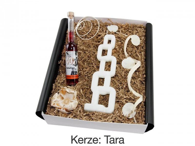 """Geschenkbox """"40´ Geburtstag"""" - Geburtstagslikör + Alusi® Kerze - Geschenkidee"""
