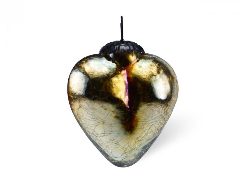 Anhänger goldenes Herz aus Glas