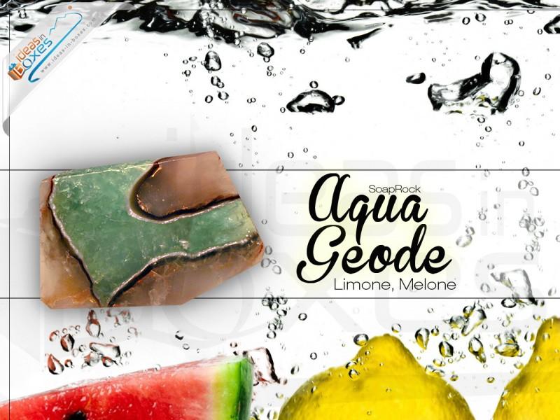 """Geschenkbox """"Aqua Geode"""" (SoapRocks antibakterielle Naturseife – Mittel gegen Akne und Neurodermitis) Tolle Geschenkidee für Oma"""