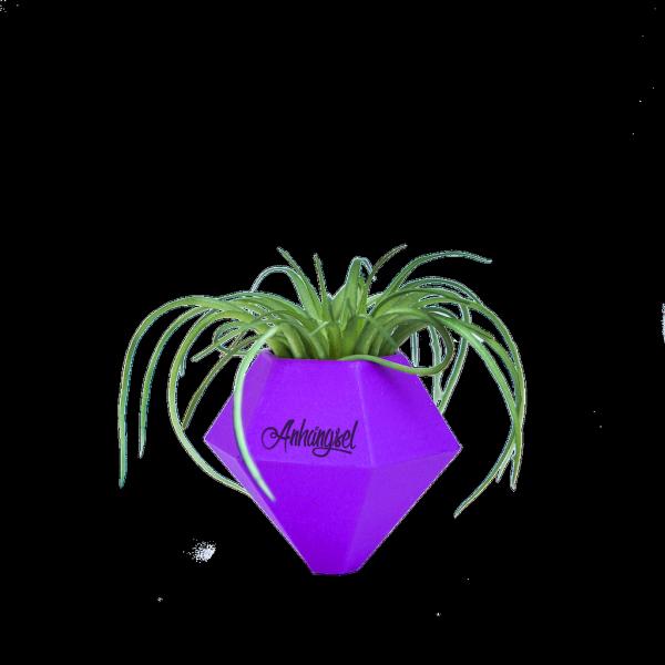 BØK – Minivase mit Magnetbefestigung lila