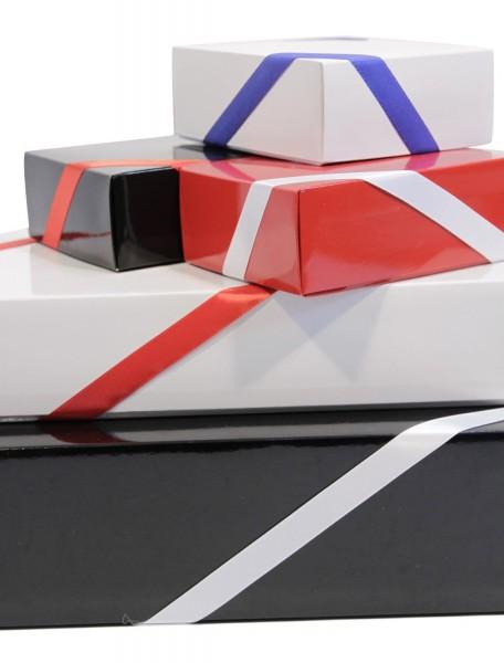 """Geschenkbox von Herzen """"40´ Secco Bianco"""" - Geschenk zum 40 Geburtstag  (Secco Bianco + Teelicht + Schokolade)"""
