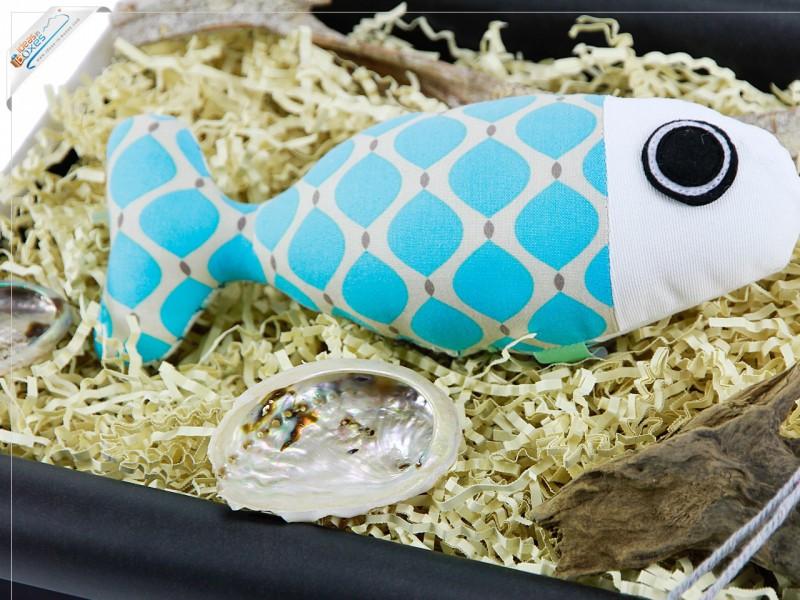 Design DIY Dekofisch aus Stoff - Handgemachte Geschenkidee