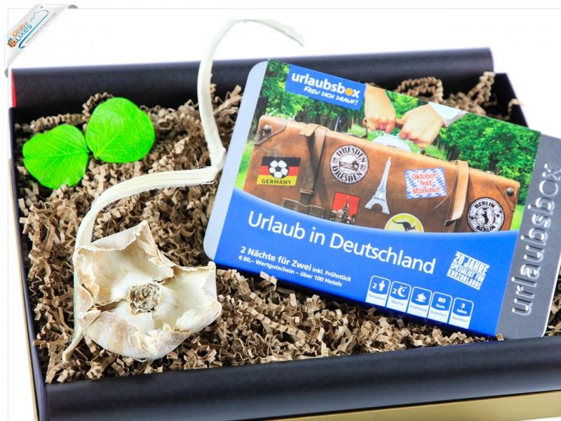 """Urlaubsbox - Geschenkset Kurzurlaub """"Urlaub in Deutschland"""" für 2 Personen - Reisegutschein"""
