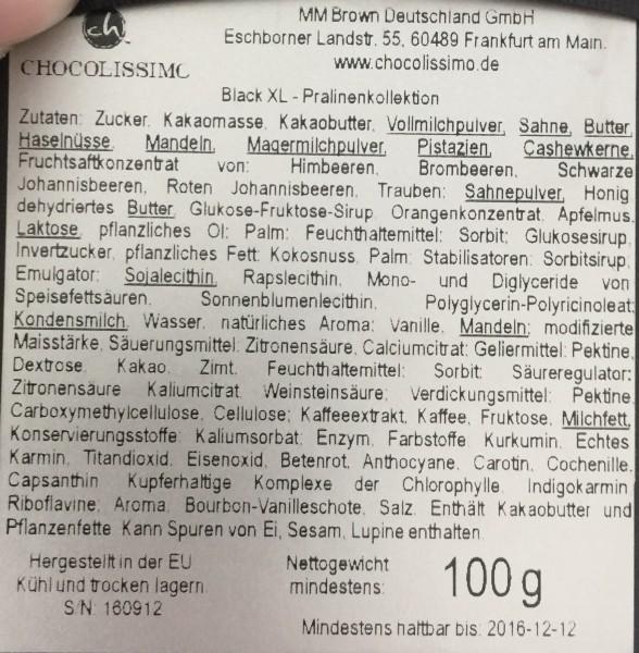 chocolissimo! Handgefertigte Pralinen – Black XL