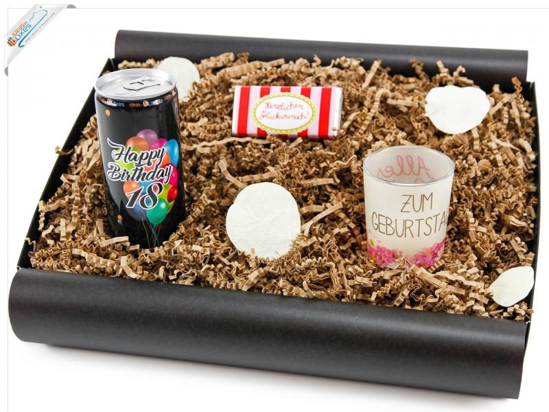 geschenkbox von herzen 18 secco bianco geschenk zum. Black Bedroom Furniture Sets. Home Design Ideas