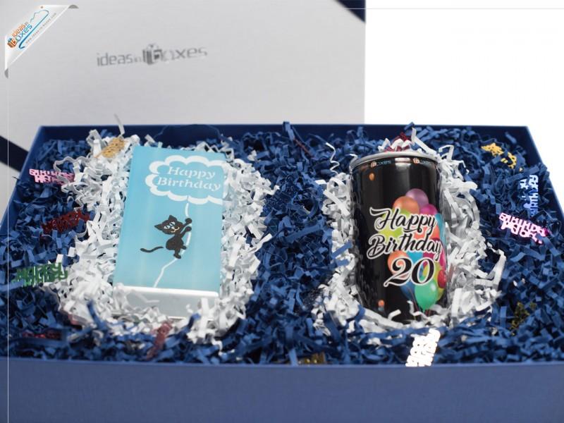 Geschenkset zum 20. Geburtstag (Secco + Motivkerze)