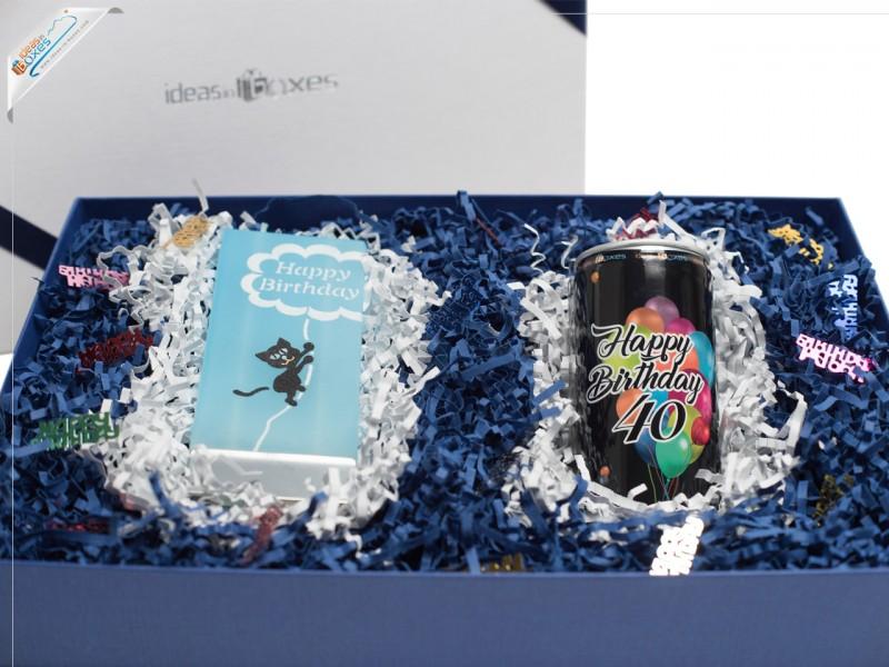 Geschenkset zum 40. Geburtstag (Secco + Motivkerze)