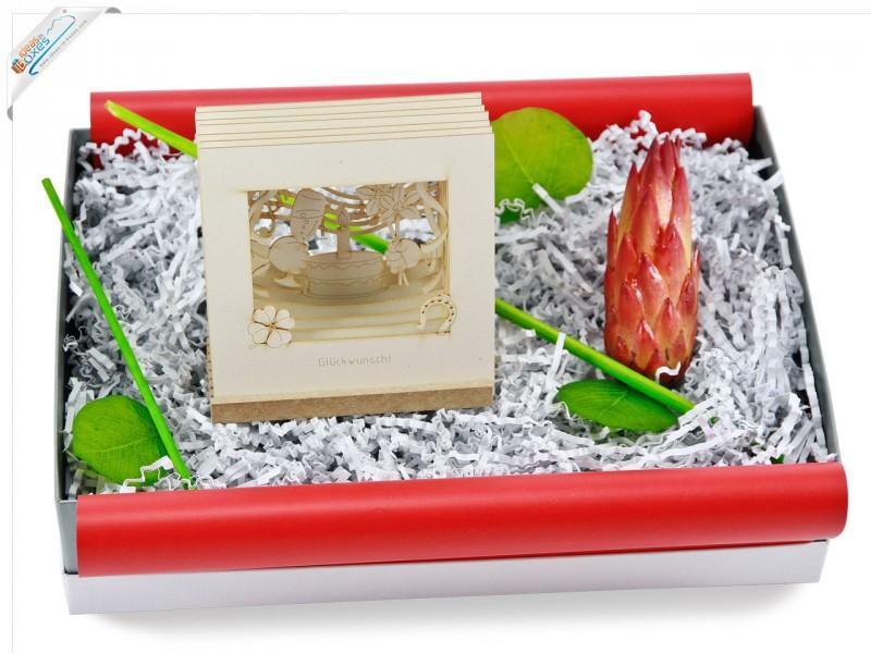 Geburtstagsgeschenk Geschenkset mit 3D-Motiv Karte