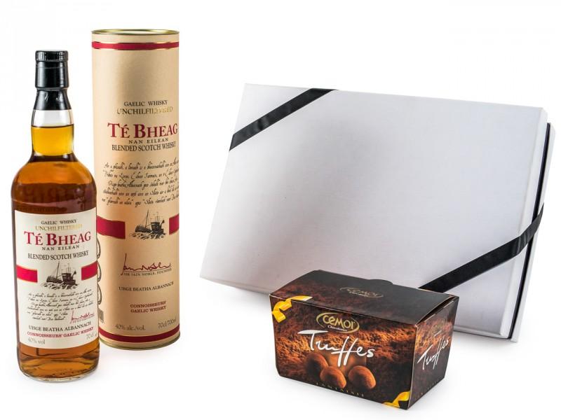 Geschenkset für Männer - Te Bheag Unchillfiltered Whisky +Trüffel-Schokolade