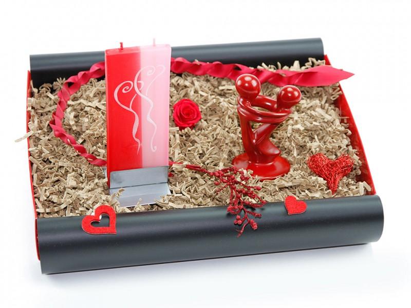 "Geschenkbox ""Freude & Gelassenheit"" (Afrikanische FairTrade Figur"