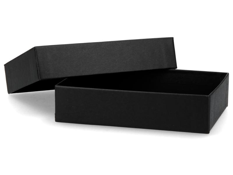 Premium Geschenkbox schwarz - Geschenkverpackung Made in Germany 12,7x3x9,4 cm