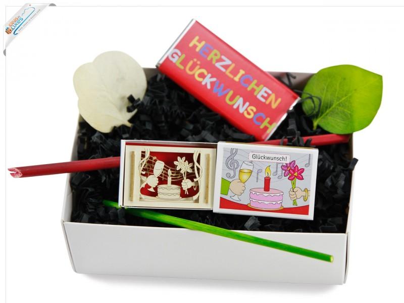 Kleines Geschenkset zum Geburtstag mit 3D-Motiv
