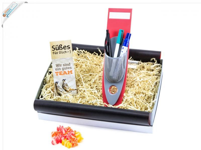 Geschenkset für Mitarbeiter oder Geschäftspartner (Snack-App + Gummibärchen)