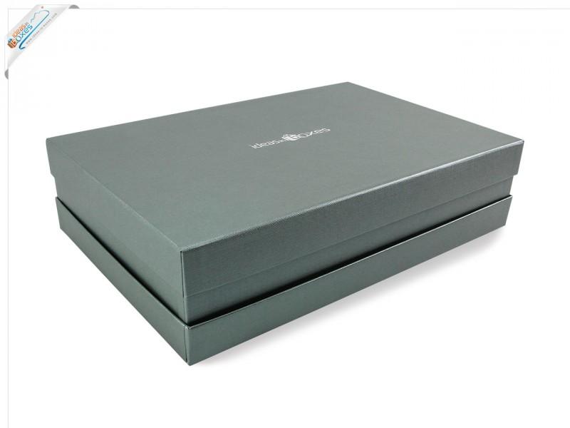 Premium-Geschenkbox - Geschenkverpackung Made in Germany (Silber) 41x9x31 cm