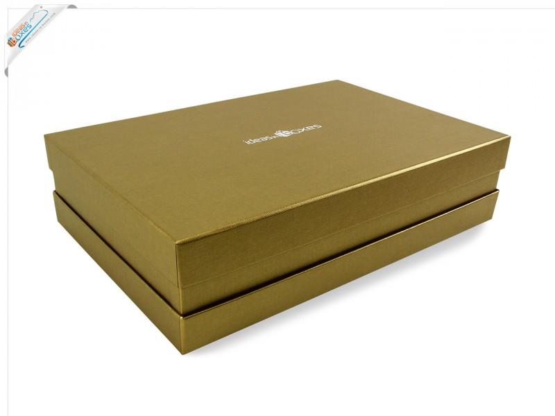 Premium-Geschenkbox - Geschenkverpackung Made in Germany (Gold) 41x9x31 cm