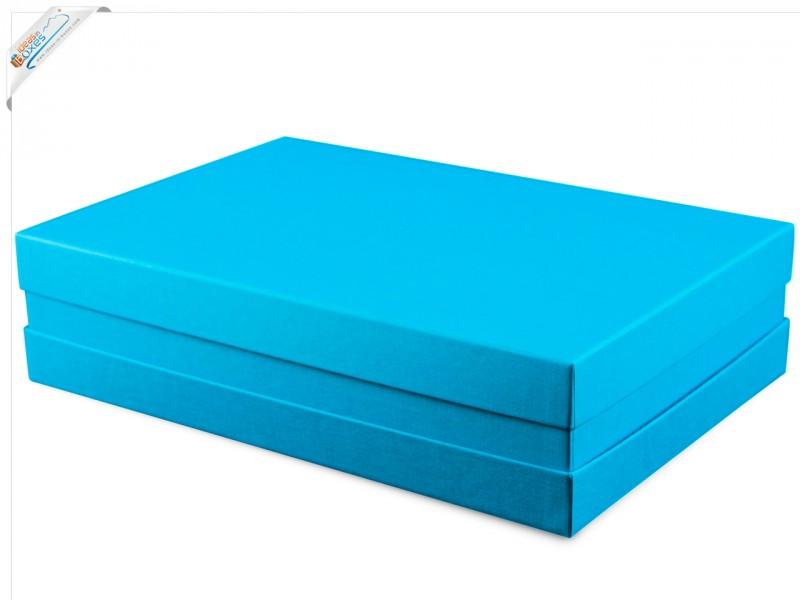 Premium-Geschenkbox - Geschenkverpackung Made in Germany (Türkis) 33x8x22 cm