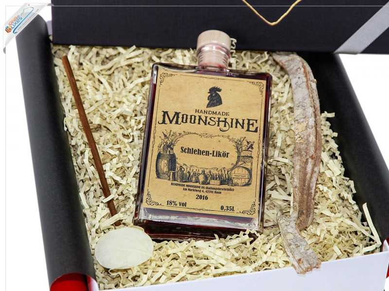 HANDMADE MOONSHINE Geschenkset Schlehen-Likör 18% vol